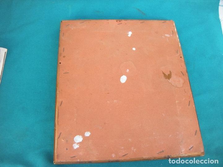 Antigüedades: CUADRO DE CHAPA VIRGEN DEL PILAR. - Foto 5 - 220790753