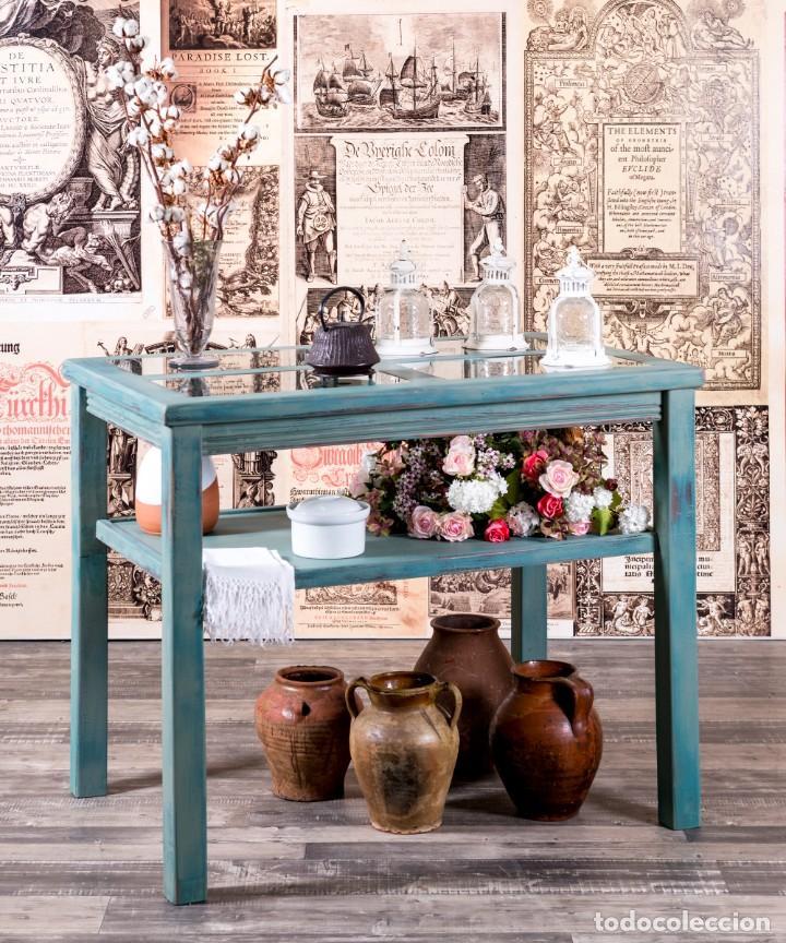 MUEBLE EXPOSITOR RECUPERADO LLANES (Antigüedades - Muebles Antiguos - Auxiliares Antiguos)