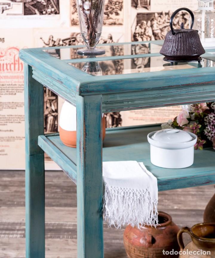 Antigüedades: Mueble Expositor Recuperado Llanes - Foto 2 - 220791426
