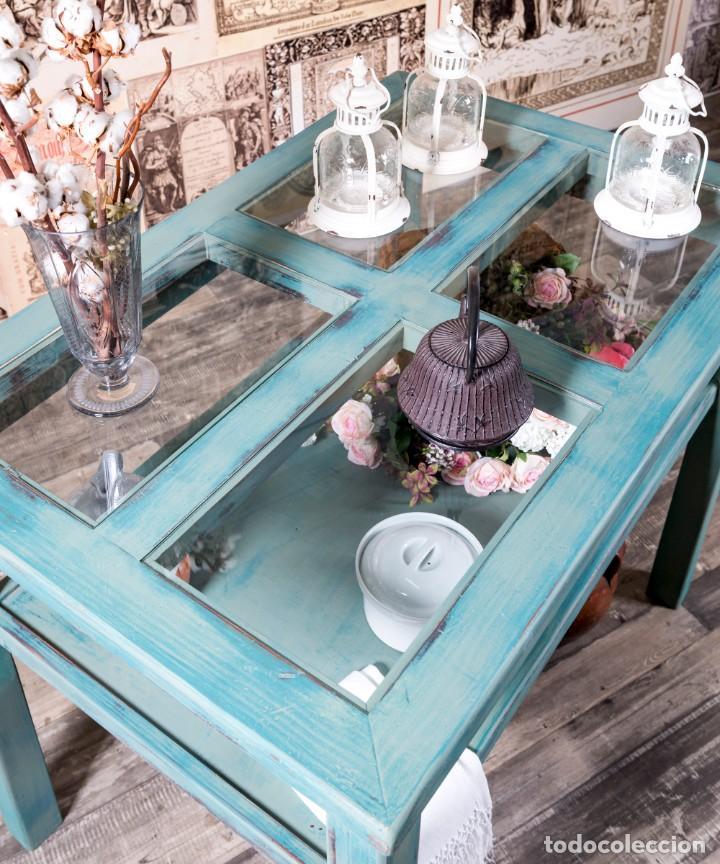 Antigüedades: Mueble Expositor Recuperado Llanes - Foto 3 - 220791426