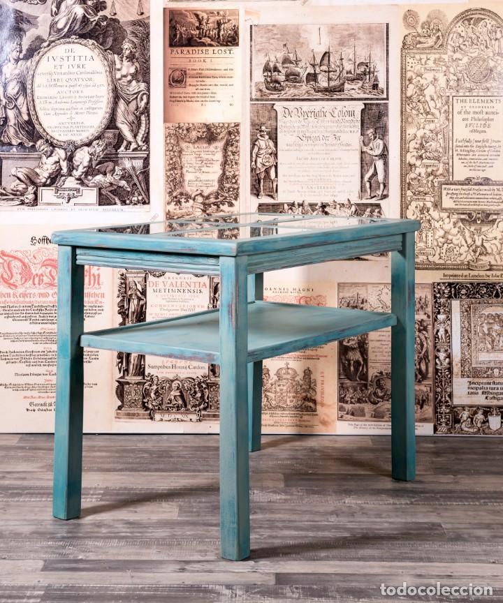 Antigüedades: Mueble Expositor Recuperado Llanes - Foto 4 - 220791426