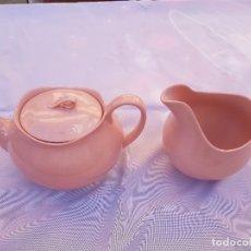Antigüedades: TETERA Y LECHERA DE LA SERIE ROSE CLOUD DE JOHNSON BROS. Lote 220795687