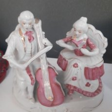 Antigüedades: FIGURA PAREJA MUSICOS. Lote 220795990