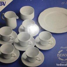 Antigüedades: JUEGO DE CAFE BIDASOA - REGALO DEL BANCO BBVA - NUEVO A ESTRENAR - AÑOS 90. Lote 220796997