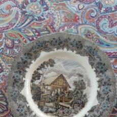 Antigüedades: PLATO DE LA CARTUJA DE SEVILLA PICKMAN S.A COLORES INALTERABLES. Lote 220846820