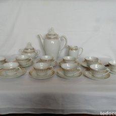 Antigüedades: JUEGO CAFÉ PORCELANA SANTA CLARA.. Lote 220852147