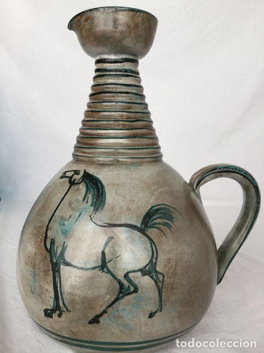 Antigüedades: Preciosa jarra de Yvon Roy cerámica Montgolfier (Francia) años 50-60 - Foto 15 - 220862321