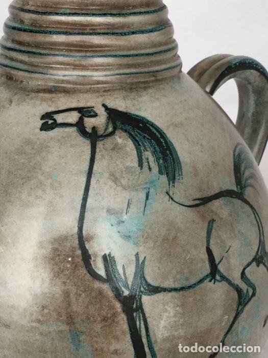 Antigüedades: Preciosa jarra de Yvon Roy cerámica Montgolfier (Francia) años 50-60 - Foto 2 - 220862321