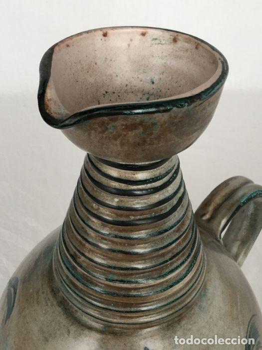 Antigüedades: Preciosa jarra de Yvon Roy cerámica Montgolfier (Francia) años 50-60 - Foto 3 - 220862321