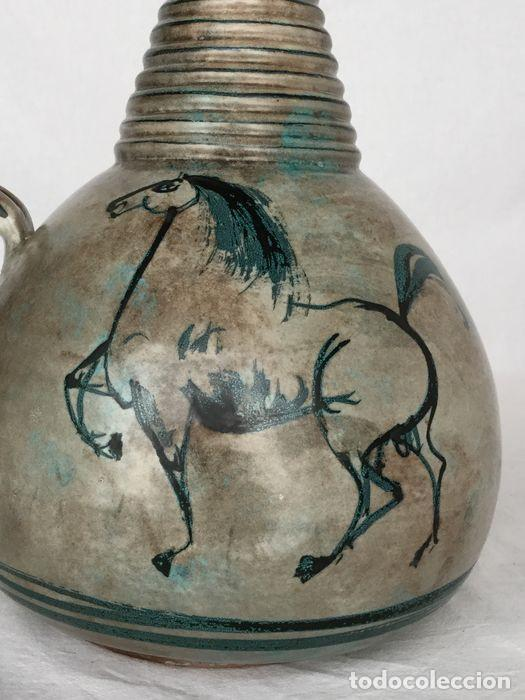 Antigüedades: Preciosa jarra de Yvon Roy cerámica Montgolfier (Francia) años 50-60 - Foto 6 - 220862321
