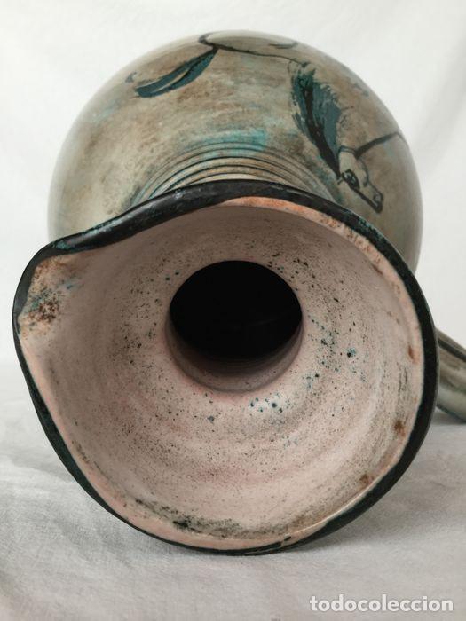 Antigüedades: Preciosa jarra de Yvon Roy cerámica Montgolfier (Francia) años 50-60 - Foto 8 - 220862321