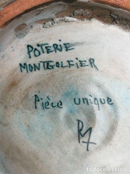 Antigüedades: Preciosa jarra de Yvon Roy cerámica Montgolfier (Francia) años 50-60 - Foto 11 - 220862321
