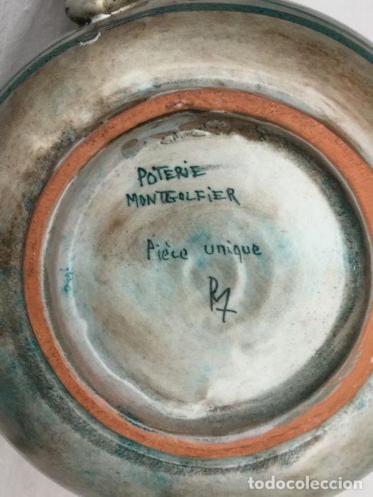 Antigüedades: Preciosa jarra de Yvon Roy cerámica Montgolfier (Francia) años 50-60 - Foto 12 - 220862321