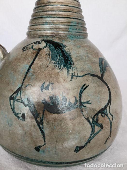 Antigüedades: Preciosa jarra de Yvon Roy cerámica Montgolfier (Francia) años 50-60 - Foto 14 - 220862321