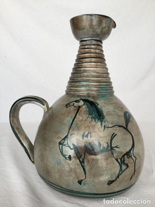 PRECIOSA JARRA DE YVON ROY CERÁMICA MONTGOLFIER (FRANCIA) AÑOS 50-60 (Antigüedades - Porcelana y Cerámica - Francesa - Limoges)