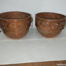 Antigüedades: DOS OLLAS DE COBRE. Lote 220884906