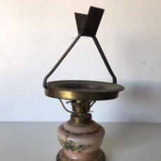 Antigüedades: LAMPARA DE MESA DE ACEITE ANTIGUA. Lote 220893300
