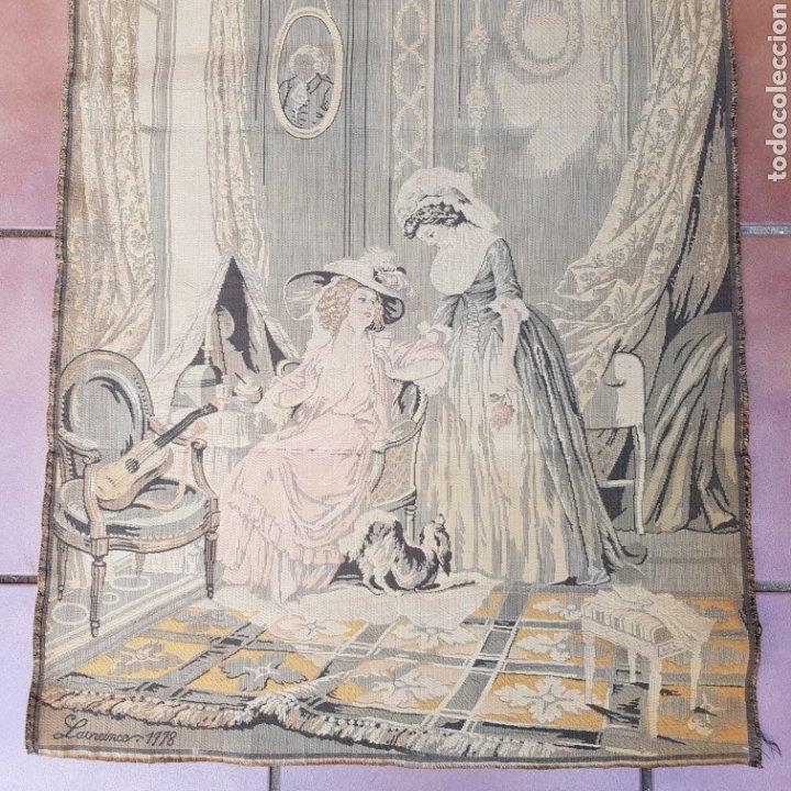 Antigüedades: TAPIZ NEOCLASICO FRANCES DEL PINTOR NICOLAS LAVREINCE - Foto 3 - 220930470