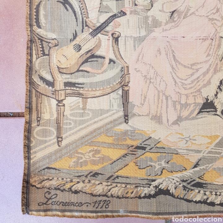 Antigüedades: TAPIZ NEOCLASICO FRANCES DEL PINTOR NICOLAS LAVREINCE - Foto 4 - 220930470