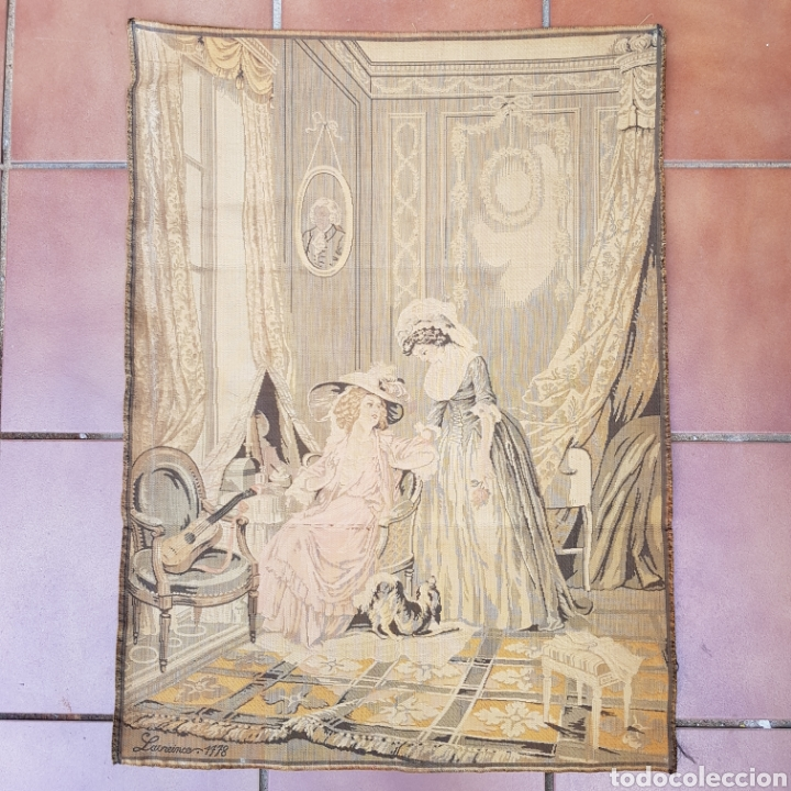 Antigüedades: TAPIZ NEOCLASICO FRANCES DEL PINTOR NICOLAS LAVREINCE - Foto 7 - 220930470