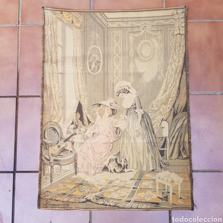 TAPIZ NEOCLASICO FRANCES DEL PINTOR NICOLAS LAVREINCE (Antigüedades - Hogar y Decoración - Tapices Antiguos)