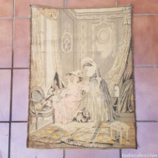Antigüedades: TAPIZ NEOCLASICO FRANCES DEL PINTOR NICOLAS LAVREINCE. Lote 220930470
