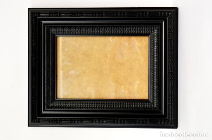 Antigüedades: Marco madera ebonizado - Foto 2 - 220933823