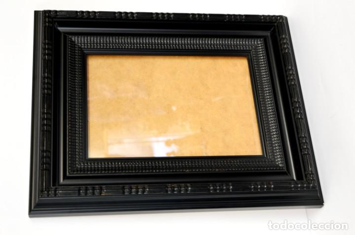 Antigüedades: Marco madera ebonizado - Foto 3 - 220933823