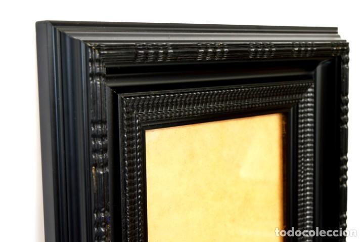 Antigüedades: Marco madera ebonizado - Foto 4 - 220933823