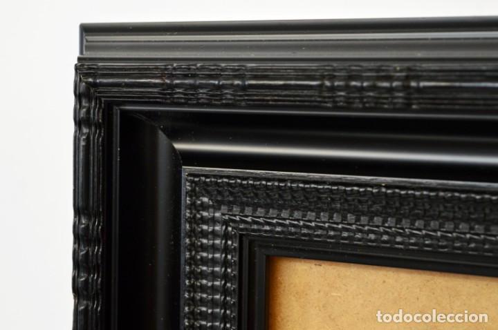 Antigüedades: Marco madera ebonizado - Foto 5 - 220933823