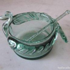 Antigüedades: SALERO DE CRISTAL SOPLADO MALLORCA PROBABLEMENTE GORDIOLA. Lote 220959843