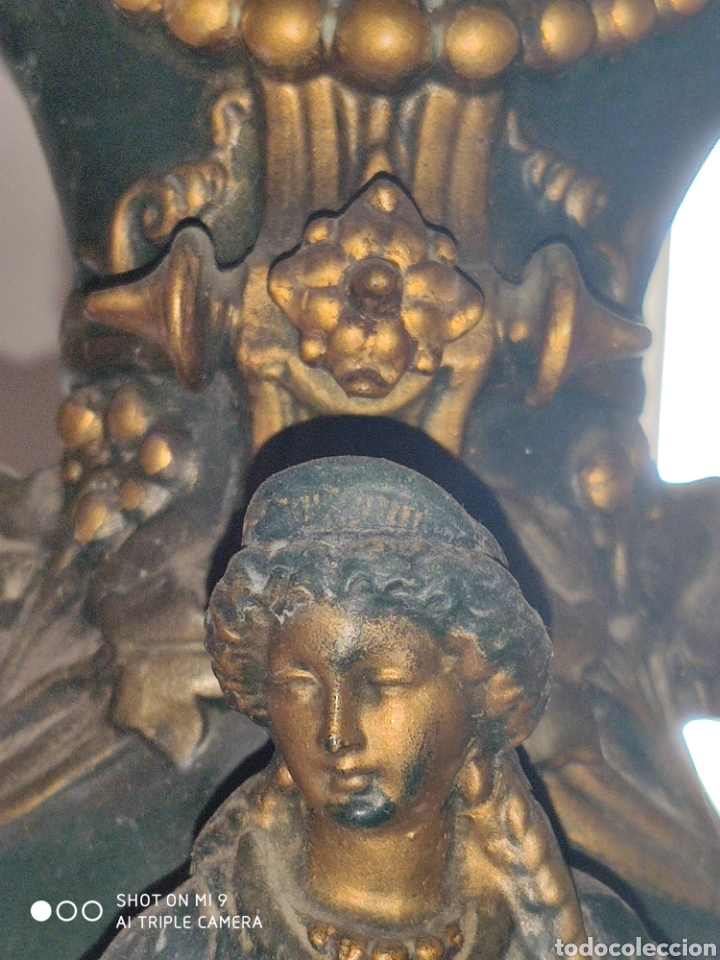 Antigüedades: PAREJA DE JARRONES NUPCIALES SARREGUEMINES, FRANCIA SOBRE FINALES DEL 1.700 PRINCIPIOS DEL 1.800. - Foto 11 - 220960885