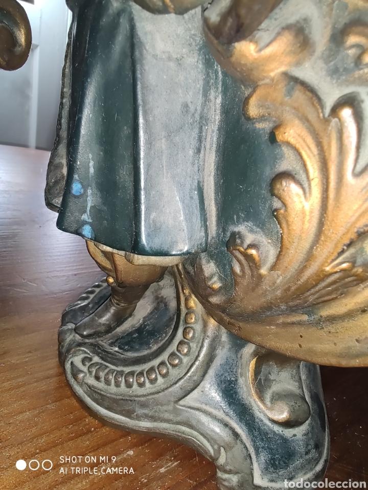 Antigüedades: PAREJA DE JARRONES NUPCIALES SARREGUEMINES, FRANCIA SOBRE FINALES DEL 1.700 PRINCIPIOS DEL 1.800. - Foto 17 - 220960885
