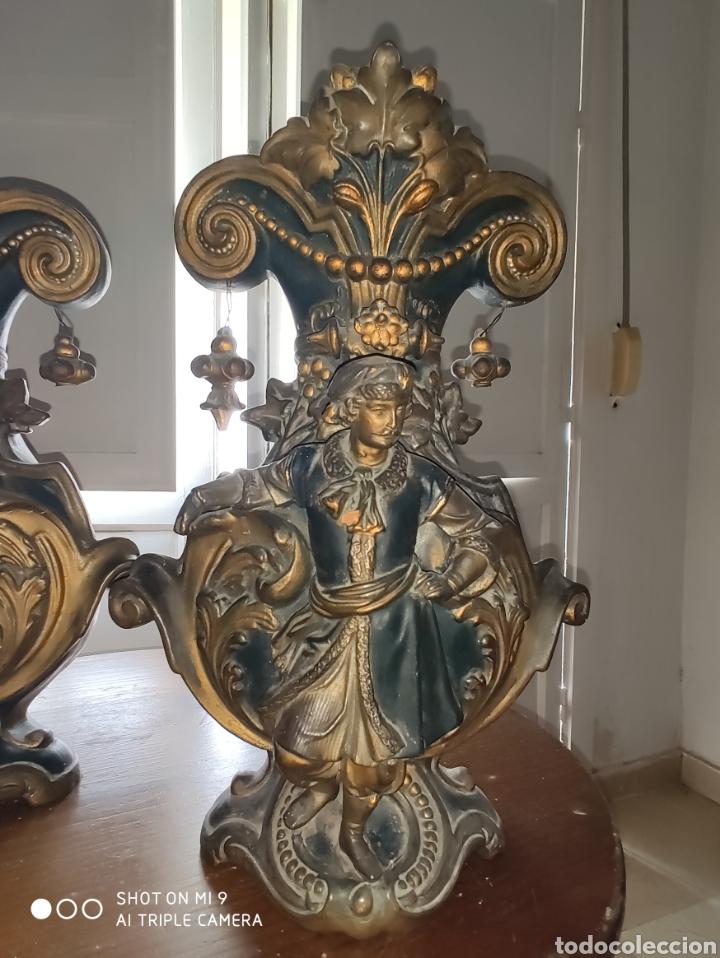 Antigüedades: PAREJA DE JARRONES NUPCIALES SARREGUEMINES, FRANCIA SOBRE FINALES DEL 1.700 PRINCIPIOS DEL 1.800. - Foto 28 - 220960885