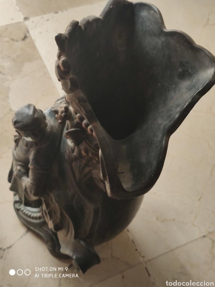Antigüedades: PAREJA DE JARRONES NUPCIALES SARREGUEMINES, FRANCIA SOBRE FINALES DEL 1.700 PRINCIPIOS DEL 1.800. - Foto 35 - 220960885