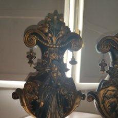 Antigüedades: PAREJA DE JARRONES NUPCIALES SARREGUEMINES, FRANCIA SOBRE FINALES DEL 1.700 PRINCIPIOS DEL 1.800.. Lote 220960885