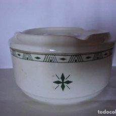 Antigüedades: CENICERO DE AGUA DE LA VAJILLA PRIMAVERA FLORAL DE LA CARTUJA DE SEVILLA.. Lote 220967091