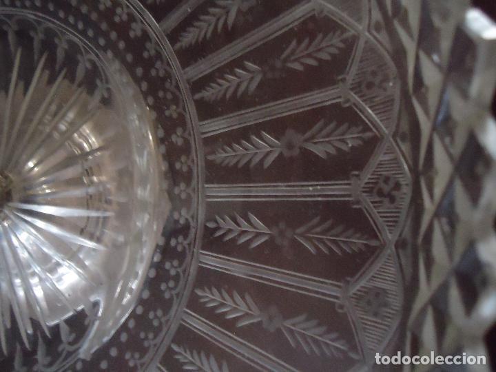 Antigüedades: Centro de Mesa repostero frutero siglo XIX en cristal tallado - Foto 2 - 220980811