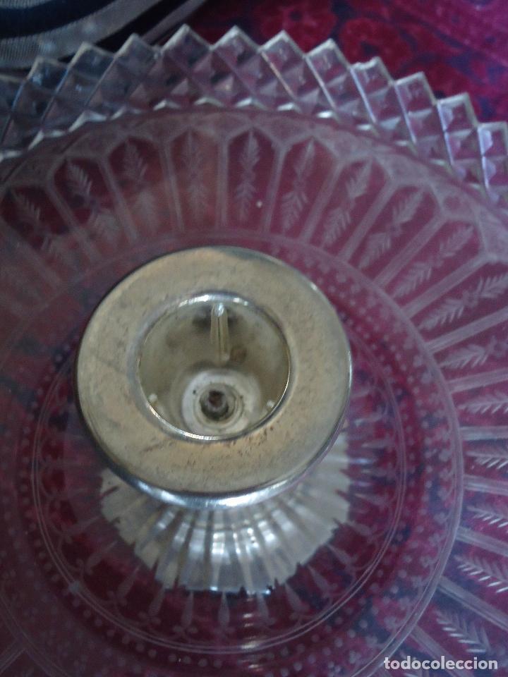 Antigüedades: Centro de Mesa repostero frutero siglo XIX en cristal tallado - Foto 7 - 220980811