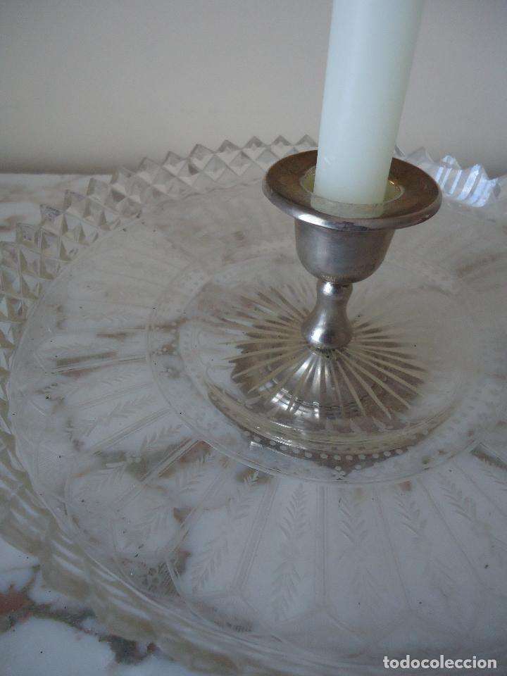 Antigüedades: Centro de Mesa repostero frutero siglo XIX en cristal tallado - Foto 9 - 220980811
