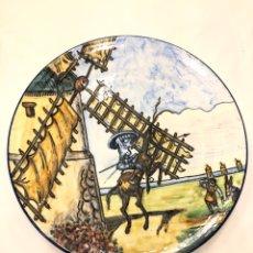 Antigüedades: PLATO DE TALAVERA. DON QUIJOTE. SIGLO XX. 38 CM. Lote 220981802