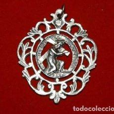 Oggetti Antichi: - 5 CMTS- MEDALLA GRANDE PLATA JESUS NAZARENO, SIGLO XVIII. Lote 221002907