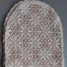 Antigüedades: LOTE DE 6 PAÑOS DE PRECIOSO ENCAJE DE BOLILLOS. INICIOS SIGLO XX. Lote 221080566