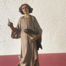 Antigüedades: SANTO DE ESTUCO POLICROMADO DE OLOT 1920'S.. Lote 221081482