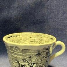 Antigüedades: TAZA CERAMICA LOZA LA AMISTAD CARTAGENA REJONEO CABALLO TORO. Lote 221104390