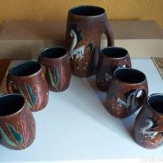 Antigüedades: BONITO JUEGO DE JARRAS (UN POCO RARAS). Lote 221113132