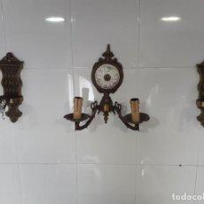 Antigüedades: APLIQUES DE PARED EN BRONCE EN PERFECTO ESTADO. Lote 221119821