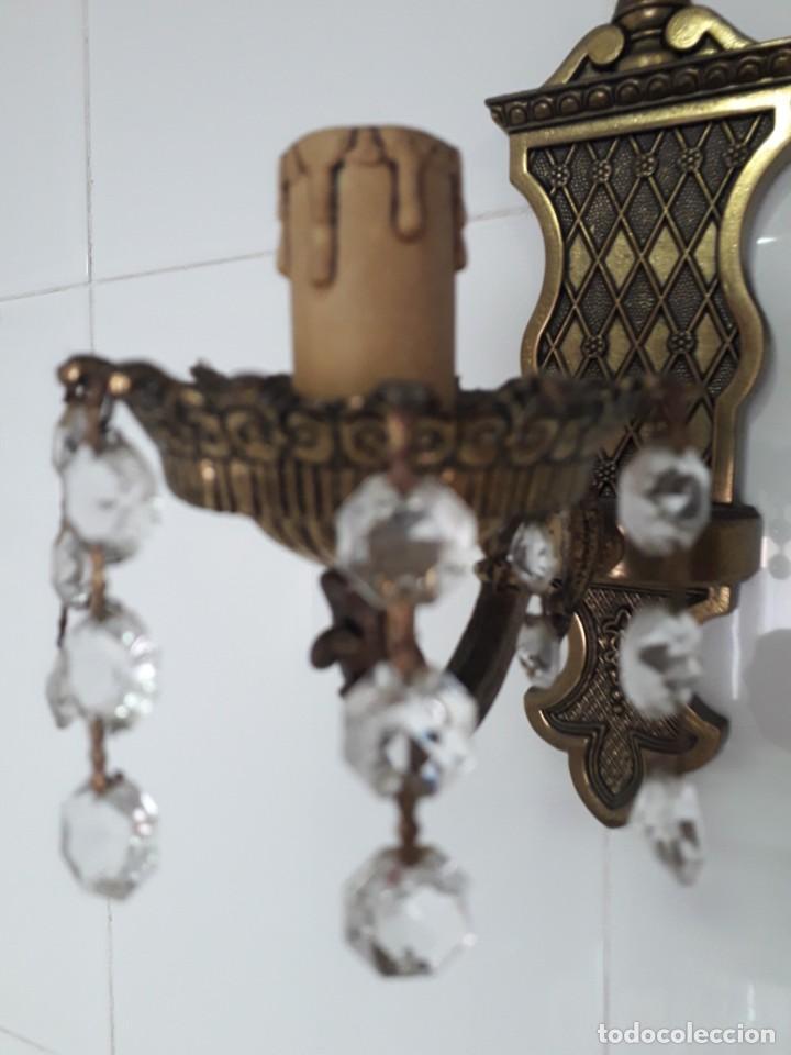 Antigüedades: Tres Apliques de pared en bronce en perfecto estado - Foto 6 - 221119821