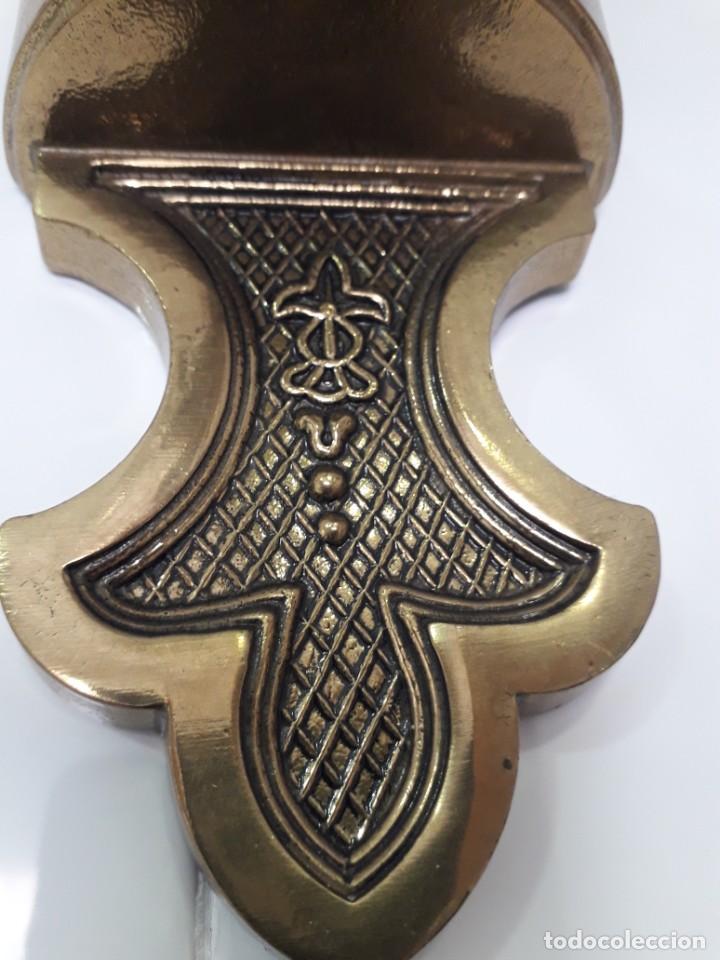 Antigüedades: Tres Apliques de pared en bronce en perfecto estado - Foto 7 - 221119821