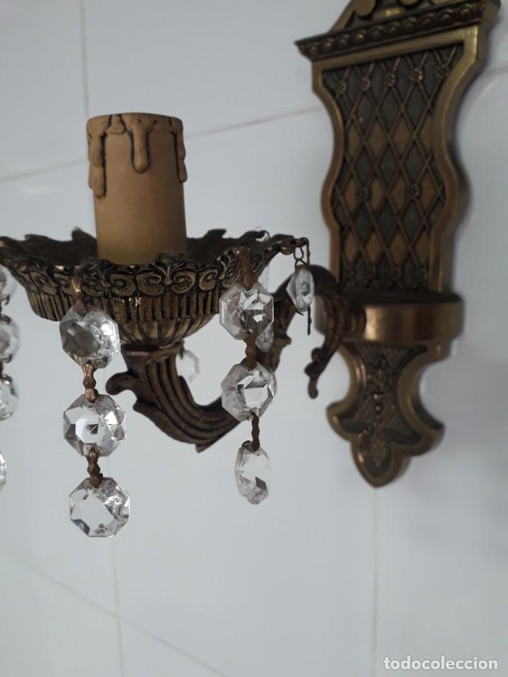 Antigüedades: Tres Apliques de pared en bronce en perfecto estado - Foto 9 - 221119821